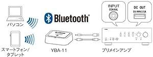 Bluetoothワイヤレスオーディオレシーバー「YBA-11」(別売)接続イメージ