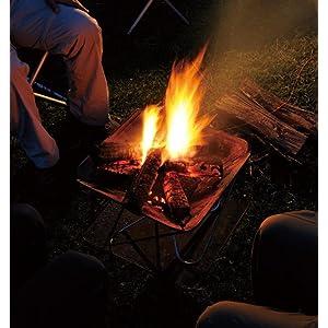 ゆらめく炎が持つ魔法をいつでも楽しめる焚火台