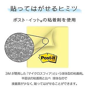 3M,Post-it,ポスト・イット,ノート,マイクロスフィア,強粘着