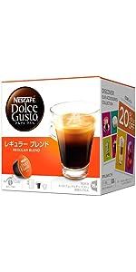 コーヒーカプセル ネスカフェ ドルチェグスト 専用カプセル レギュラーブレンド (ルンゴ) 16杯分