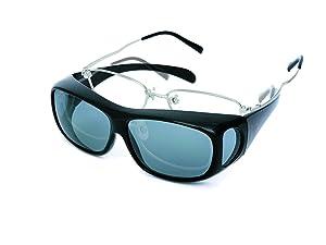 レンズ周りのカバーが花粉や粉じんなどから目や視界を守ります