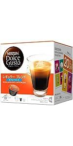 コーヒーカプセル ネスカフェ ドルチェグスト専用カプセル レギュラーブレンド カフェインレス 16杯分