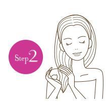 【Step2】髪の中間から毛先にかけてまんべんなく!