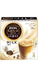 スティックコーヒー ゴールドブレンド コク深ラテ ミルク 26p×3箱