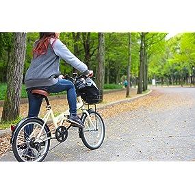普段の生活にも、外出先でも使える20インチの折りたたみ自転車FB-206R