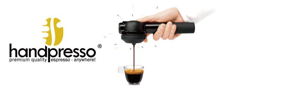 小型エスプレッソマシン「ハンドプレッソ」handpresso|DHPHPHB1BK