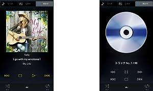 専用アプリ「NETWORK PLAYER CONTROLLER」スマートフォン版画面例