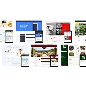 豊富なテンプレートと業種で、ホームページをより作成しやすく