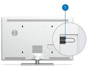 モニターにワイヤレスディスプレイアダプターを取り付けたイメージ画像