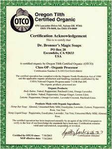 米国OTCO認定の正真正銘のオーガニック商品です。