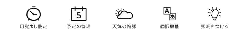 スケジュール・天気も話しかけるだけで