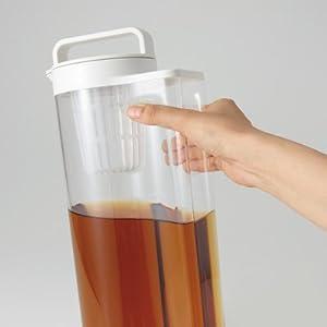無印良品 アクリル冷水筒ドアポケットタイプのお茶パック入れ2ケ