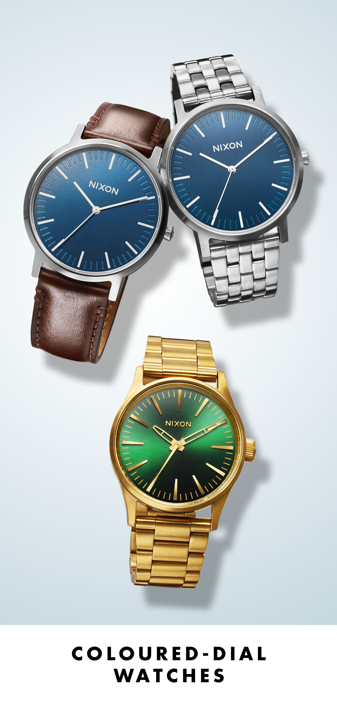 Coloured-Dial Watches