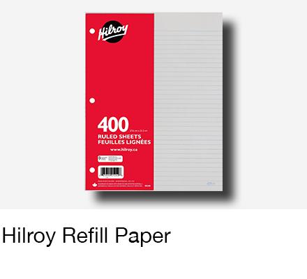 Hilroy Filler Paper