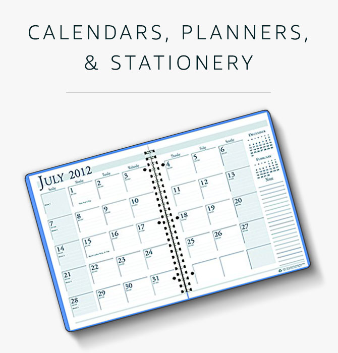 Calendars, Planners, and Stationery