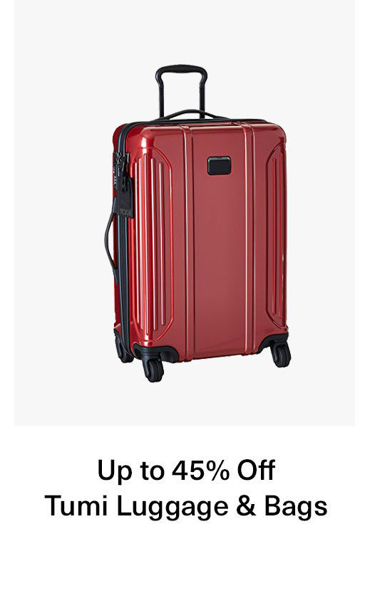 Up to 45% off Tumi Luggage