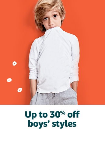 Up to 30% off boys' styles