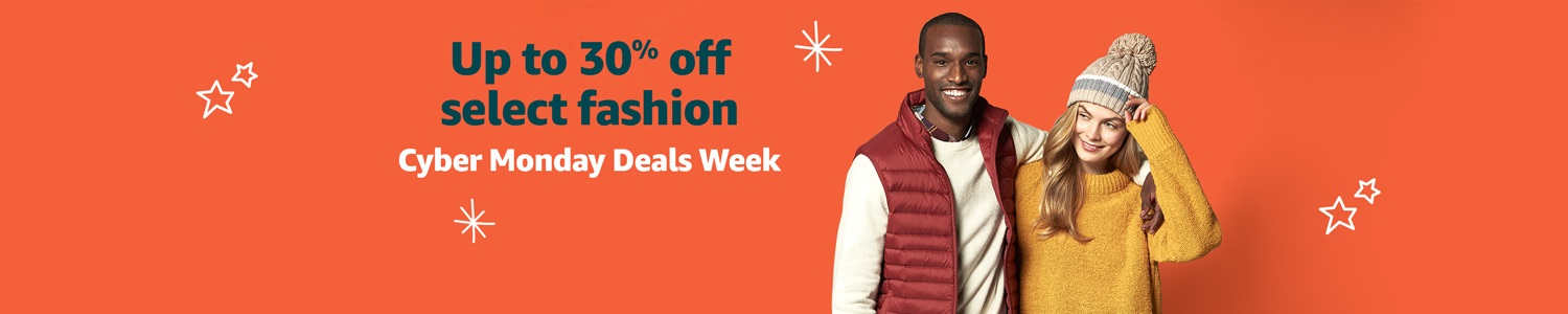 Up to 30% off select fashion