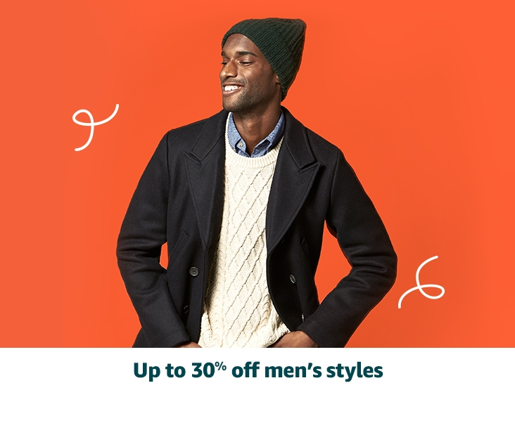 Up to 30% off men's styles