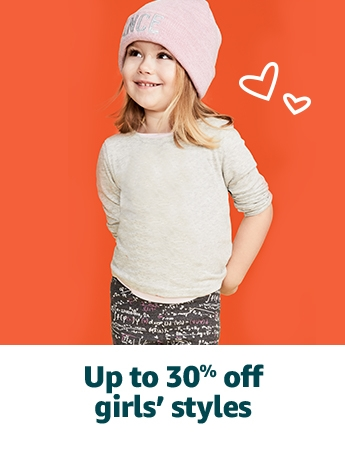 Up to 30% off girls' styles