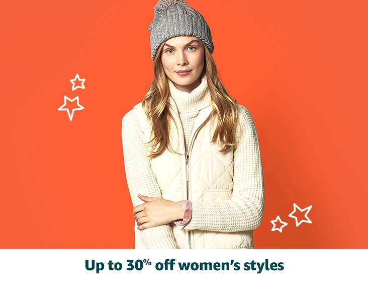 Up to 30% off women's styles