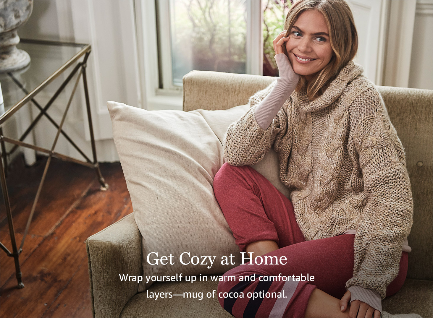 Get cozy at home