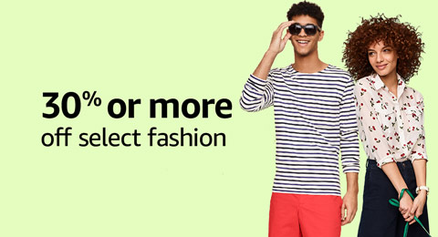 30% or more off select fashion