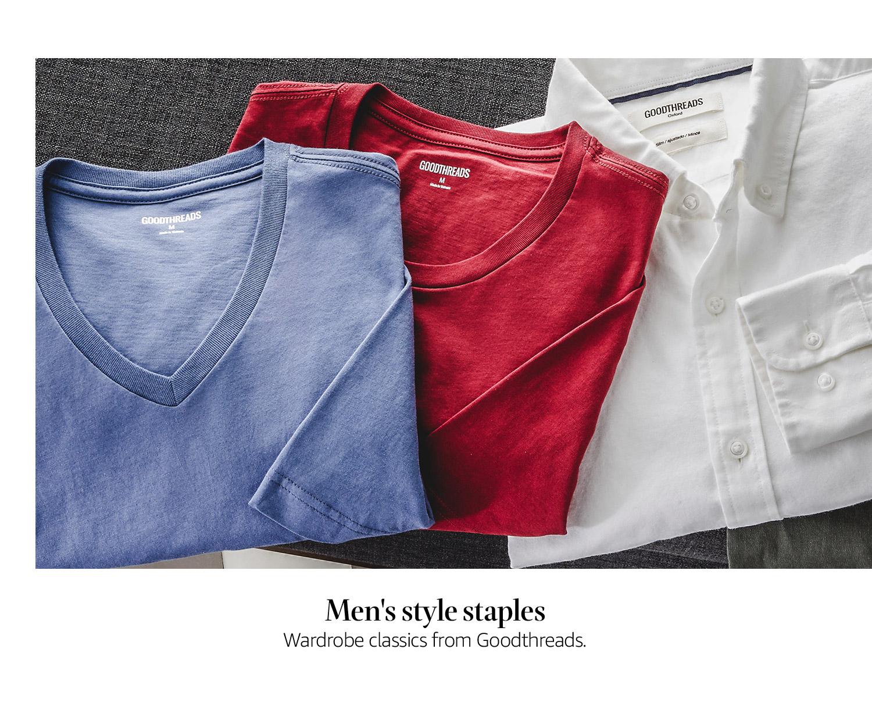 Men's style staples