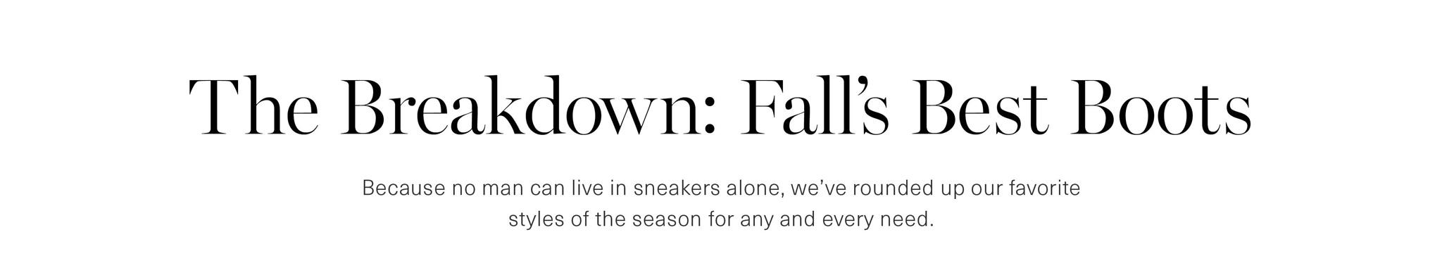Men's Fall Boot Guide