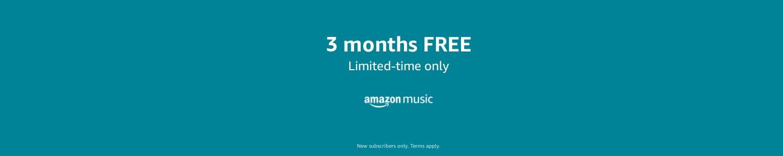 Amazon Music: 3 months free