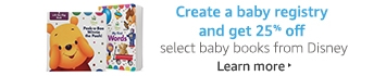Create a baby registry and get 25% off select baby books from Disney