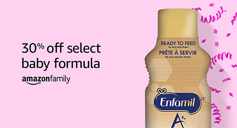 Save 30% on select baby formula with a child profile