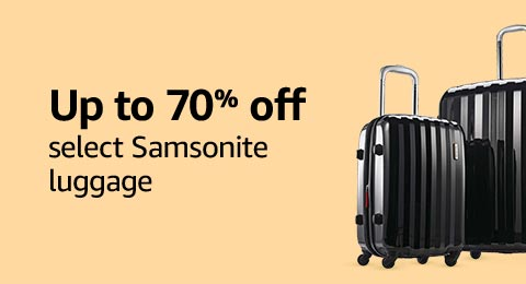 Up to 70% off select Samsonite luggage