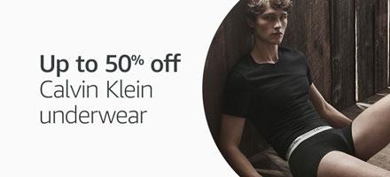 Up to 50% off Calvin Klein underwear