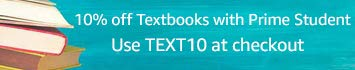 Save 10% on Textbooks with Prime Student: Use TEXT10 at checkout