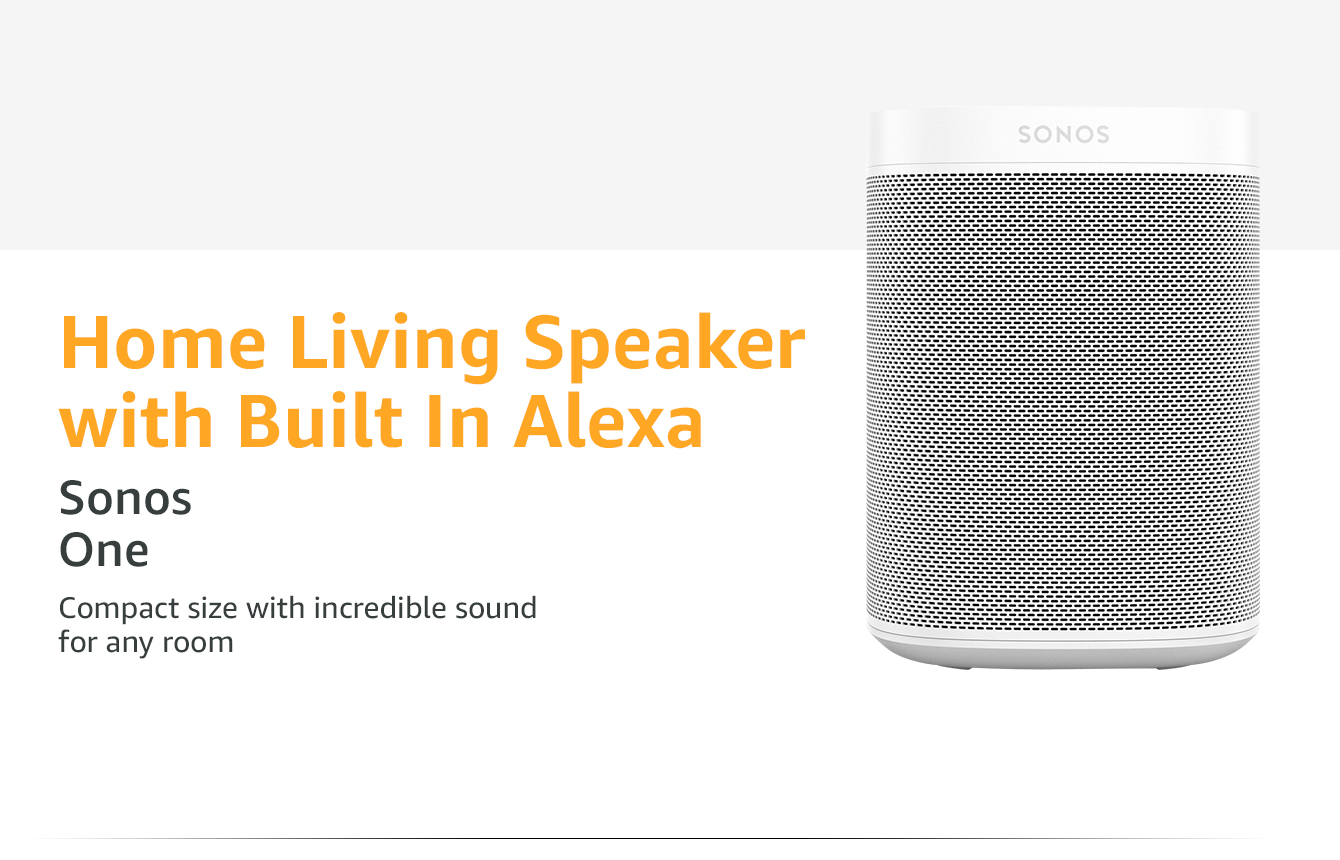 Home Living Speaker with Built in Alexa