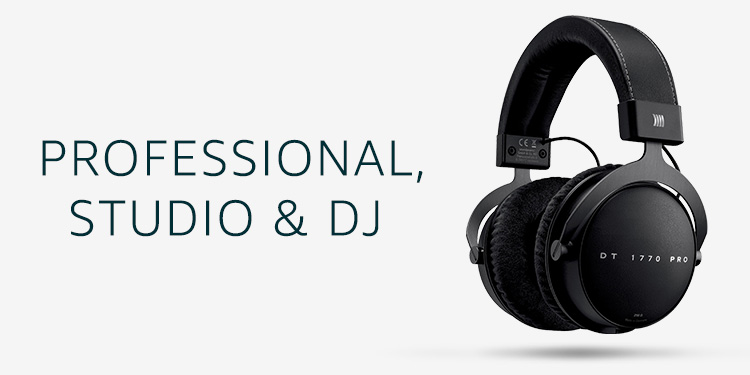 Professional, Studio & DJ Headphones