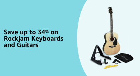 Save up to 34% on Rockjam Keyboards and Guitars
