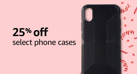 25% off select phone cases