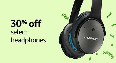 30% off select headphones