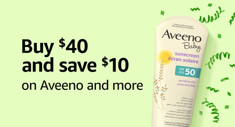 Buy $40 and save $10 on Aveeno and more