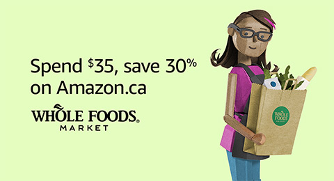 Save 30% when you spend $35 or more on Whole Foods Market products