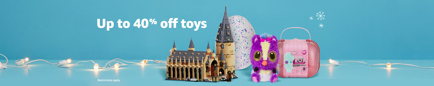 Up to 40% off toys