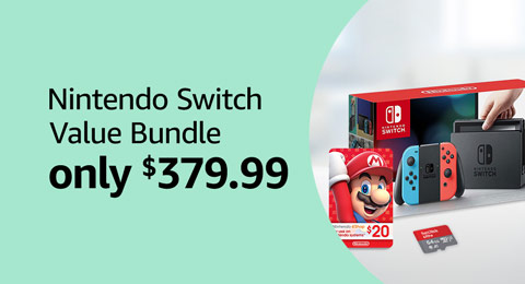 Nintendo Switch Total Gaming Value Bundle, only $379.99
