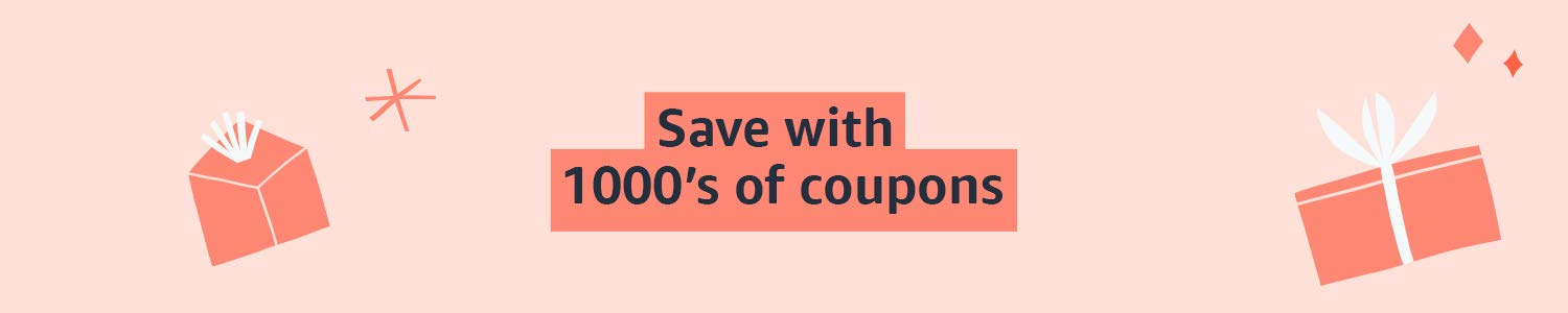 Save with 1000's of coupons