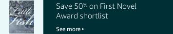 Save 50% on the First Novel Award shortlist