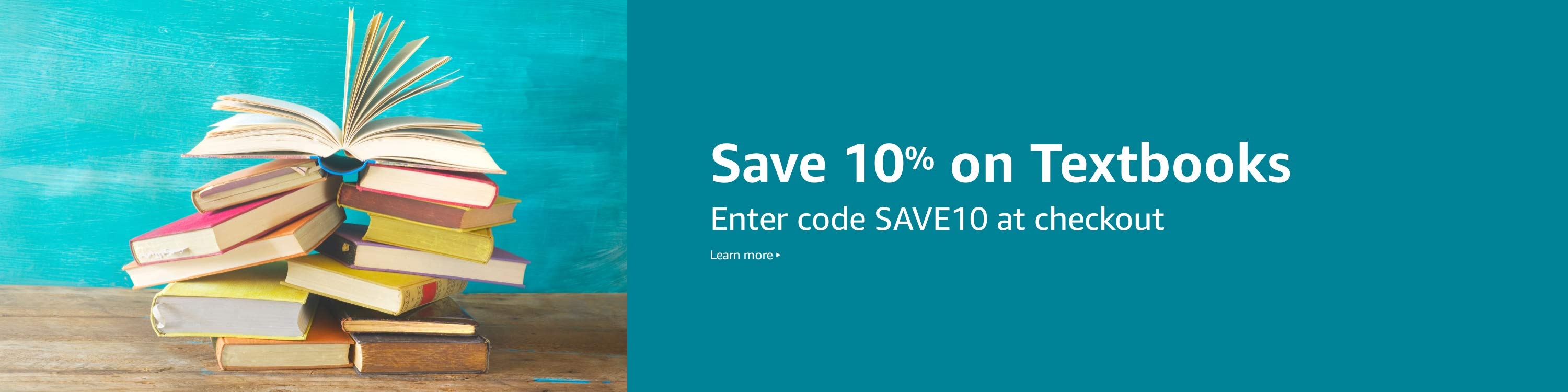 Save 10% on textbooks with SAVE10