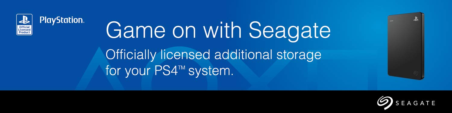 Game on with Seagate: Officially licensed additional storage for your PS4 system
