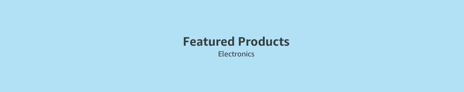 Featured Products in Electronics