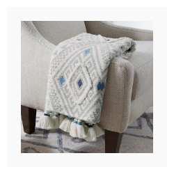 Stone & Beam Hand-Woven Global Embroidered Throw Blanket